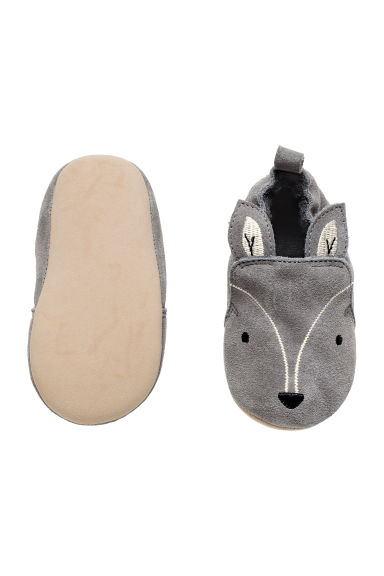 Suede slippers - Grey - Kids | H&M CN 1