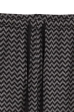 Viscose jersey pyjama bottoms - Black/Grey zigzag - Ladies | H&M CN 3