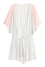 Kimono with lace - Grey/Powder - Ladies | H&M CN 2
