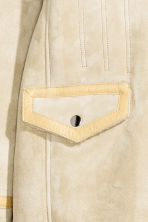Suede coat - Light beige - Ladies | H&M GB 4
