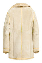 Suede coat - Light beige - Ladies | H&M GB 3