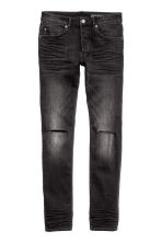 Skinny Low Ripped Jeans - Dark grey - Men | H&M CN 2