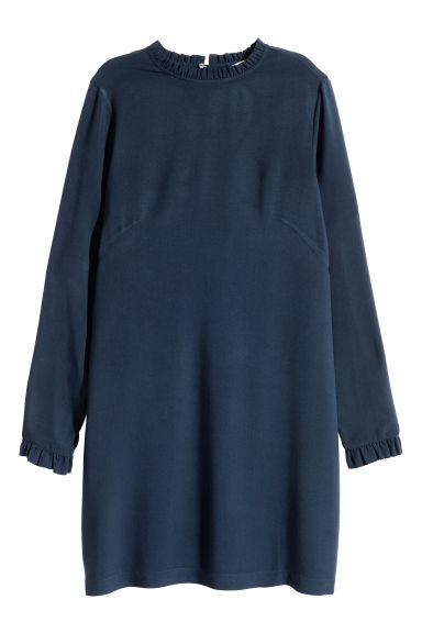 Abito con bordi a volant - Blu scuro - DONNA | H&M IT 1