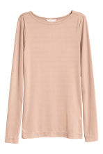 Ribbed top - Powder beige - Ladies | H&M CN 2