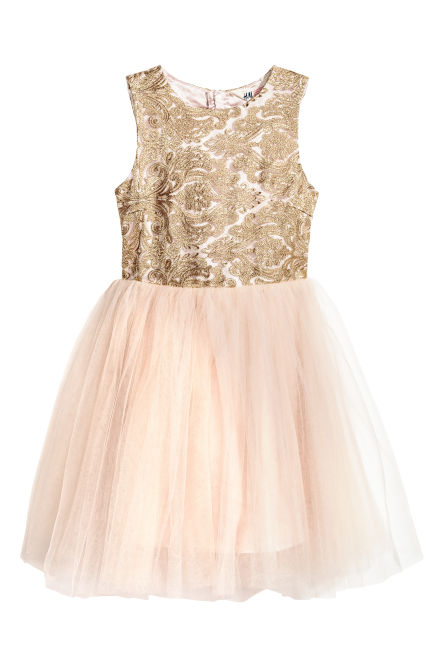 Tulle dress with embroidery
