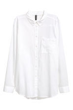 Cotton shirt - White - Ladies | H&M GB 4