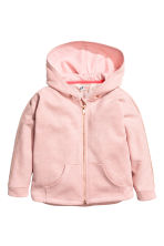 Wide hooded jacket - Light pink/Glittery -  | H&M 2