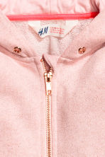Wide hooded jacket - Light pink/Glittery - Kids | H&M 3