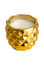 Candle in a ceramic holder - Gold/Pineapple - Home All | H&M GB 4