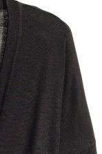 Fine-knit cardigan - Black - Ladies | H&M GB 5