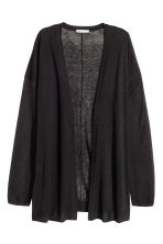 Fine-knit cardigan - Black - Ladies | H&M GB 4