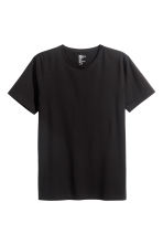 Round-neck T-shirt Slim fit - Black - Men | H&M CN 2