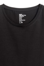Round-neck T-shirt Slim fit - Black - Men | H&M CN 3