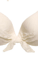 Top bikini - Bianco naturale/pizzo - DONNA | H&M IT 3