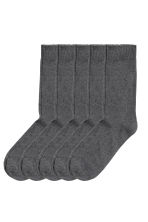 5-pack socks - Dark grey - Men | H&M CN 1