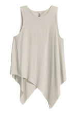 Draped top - Grey beige - Ladies | H&M CN 2