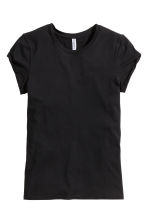 Tricot T-shirt - Zwart - DAMES | H&M BE 5