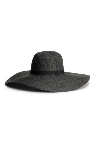 Straw hat - Black - Ladies | H&M CN