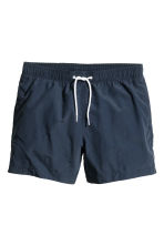 Solid colour swim shorts - Dark blue - Men | H&M CN 2