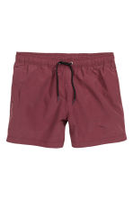 Solid colour swim shorts - Burgundy - Men | H&M CN 2