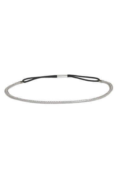 Metal hairband - Silver - Ladies | H&M CN 1