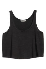 Short sleeveless top - Black - Ladies | H&M CN 2