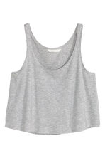 Short sleeveless top - Grey marl - Ladies | H&M 3