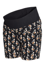 MAMA Twill shorts - Black/Birds - Ladies | H&M CN 2