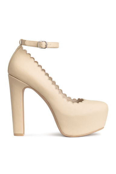 Platform court shoes - Light beige - Ladies | H&M CN 1