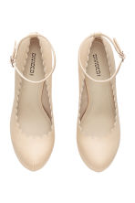 Platform court shoes - Light beige - Ladies | H&M CN 2