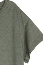 Long T-shirt - Khaki green - Ladies | H&M 3