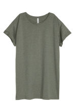 Long T-shirt - Khaki green - Ladies | H&M 2