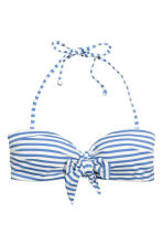 Top bikini - Blu/bianco righe - DONNA | H&M IT 2