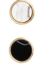 4 pairs earrings - Black/Marble - Ladies | H&M CN 2
