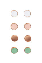 4 pairs earrings - Rose gold - Ladies | H&M CN 1
