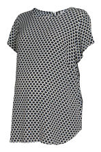 MAMA Short-sleeved blouse - Natural white/Patterned - Ladies | H&M GB 2
