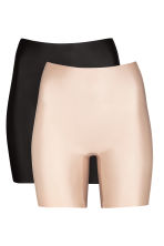 2-pack light shaping shorts - Black/Chai - Ladies | H&M CN 2