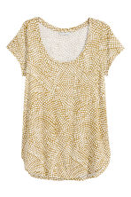 Jersey top - Olive green/Patterned - Ladies | H&M CN 2