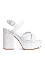 Platform sandals - White - Ladies | H&M CN 2