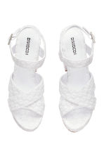 Platform sandals - White - Ladies | H&M CN 3