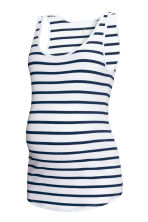 MAMA Jersey top - White/Striped - Ladies | H&M CN 1