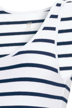 MAMA Jersey top - White/Striped - Ladies | H&M CN 2