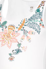 MAMA Jersey top - White/Floral - Ladies | H&M CN 3