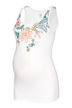 MAMA Jersey top - White/Floral - Ladies | H&M CN 2