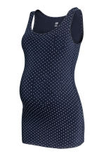 MAMA Jersey top - Dark blue/Spotted - Ladies | H&M CN 1