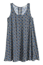 Wide dress - Dark blue/Patterned -  | H&M CN 2