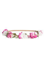 Hairband with flowers - White/Pink - Ladies | H&M CN 1