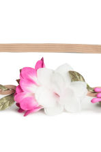 Hairband with flowers - White/Pink - Ladies | H&M CN 2