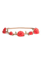 Hairband with flowers - 珊瑚色 - Ladies | H&M CN 1