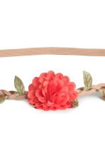 Hairband with flowers - 珊瑚色 - Ladies | H&M CN 2